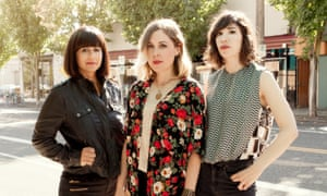 Janet Weiss, Corin Tucker and Carrie Brownstein of Sleater-Kinney