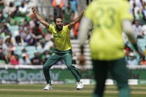 Tahir celebrates.