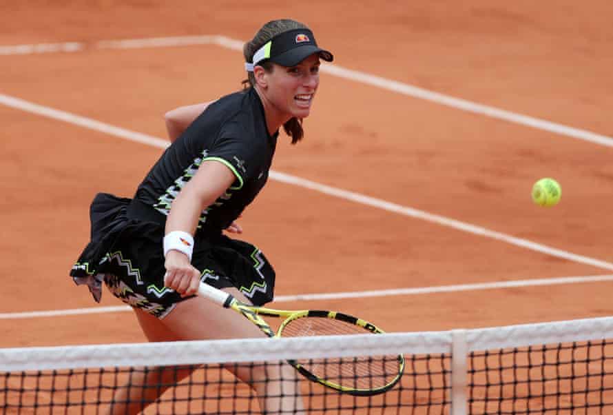 Johanna Konta during the semi-final.