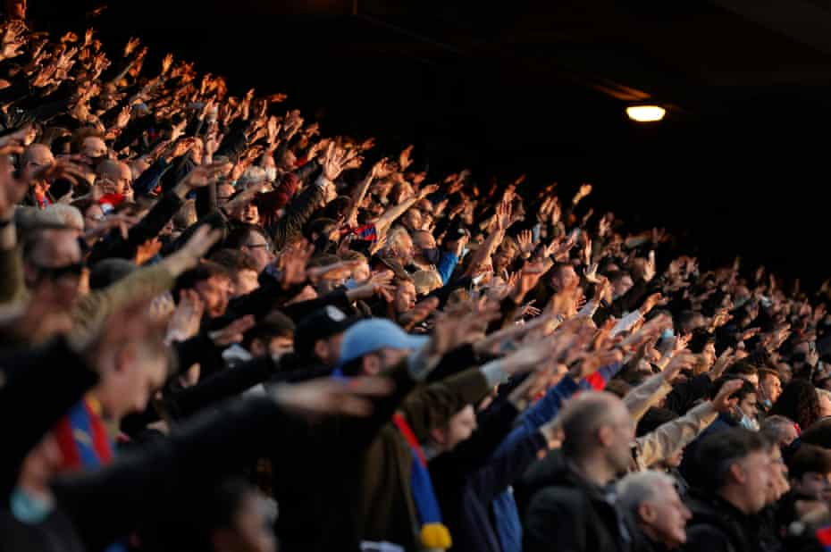 Crystal Palace fans during Arsenal's visit to Selhurst Park in May.