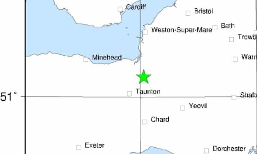 An earthquake measuring 3.2 magnitude struck Bridgwater, northeast of Taunton, at 10.49pm on Thursday 5 December.