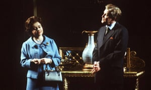 Bennett as Anthony Blunt, with Prunella Scales as the Queen, in A Question Of Attribution.
