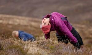 Exquisite awareness … performers re-enact Nan Shepherd exercises.