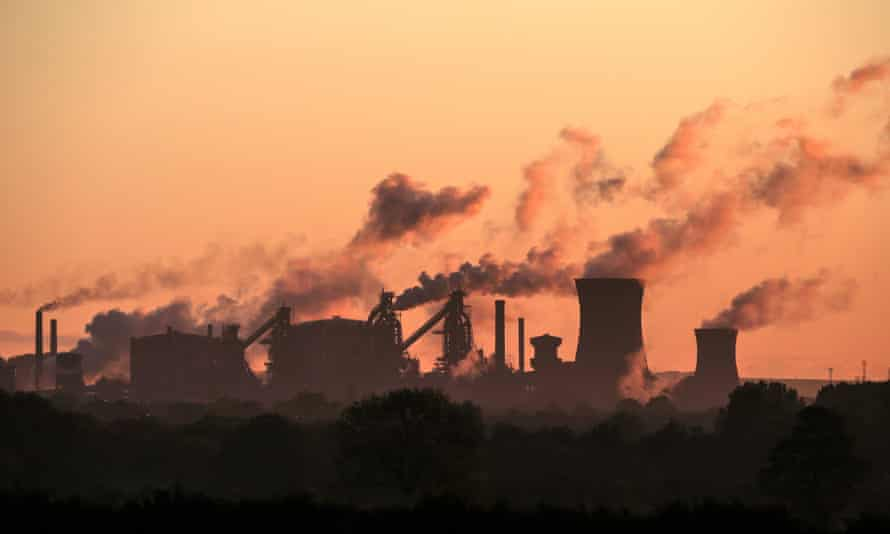 A British Steel plant in Scunthorpe, Lincolnshire.