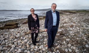 Jeremy Corbyn with Labour councillor for Morecambe Lizzi Collinge.