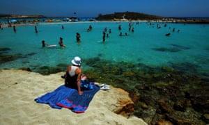 Beach and holidaymakers Ayia Napa