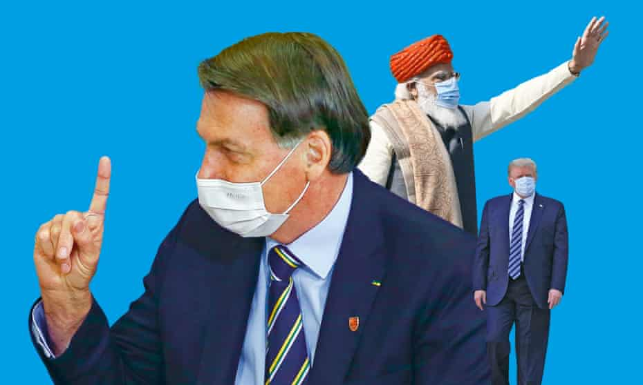 Jair Bolsonaro, Narendra Modi and Donald Trump