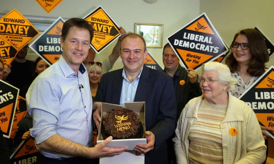 Nick Clegg and Ed Davey in Kingston.