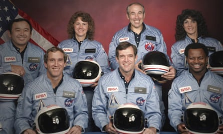 The members of the Challenger 7 crew, from left: Ellison Onizuka, Michael Smith, Christa McAuliffe, Dick Scobee, Gregory Jarvis, Judith Resnik and Ronald McNair.
