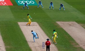 Australia's Alex Carey is struck on the helmet by the ball off the bowling of England's Jofra Archer.