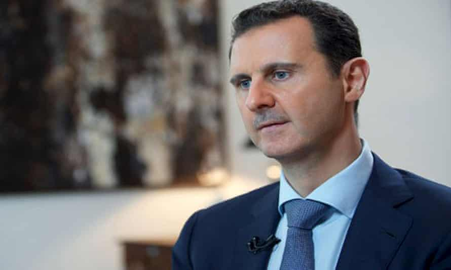 Bashar al-Assad speaks during an interview where he stressed the success of a military campaign by Russia, Syria and its allies was 'vital to save the Middle East from destruction'.