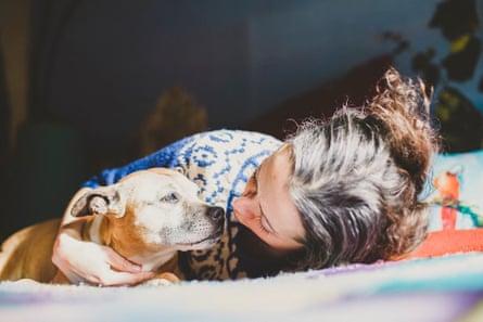 Marieke Hardy and her dog