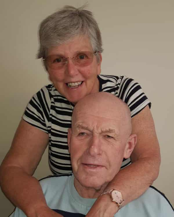 Barbara Littlewood, 68, with her husband Stuart, 76, before Covid.