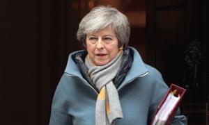 Theresa May outside No 10 Downing Street