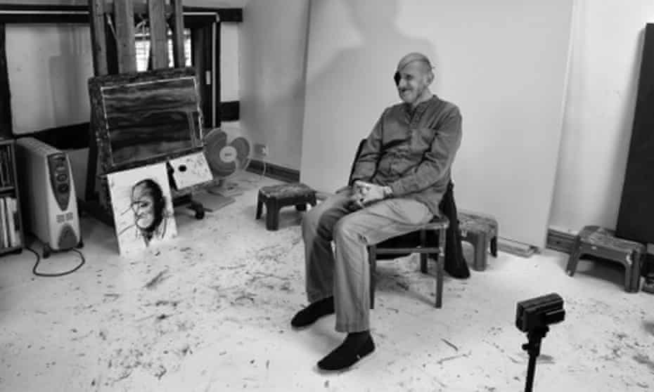 """Roger Partridge, here in the Studio of the painter Lucy Jones, compared sculpture to """"the joy of unwrapping a Christmas present""""."""