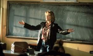 Michelle Pfeiffer as Louanne Johnson in Dangerous Minds