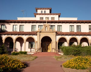 Outside the Benedictine Monastery where Casa Alitas is based currently in Tucson.
