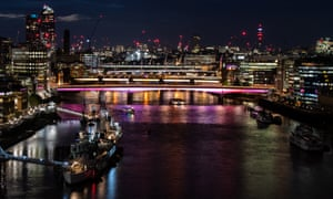 Millennium, Southwark, Cannon Street and London are the first bridges to be lit up as part of the Illuminated River project.