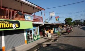 The main street in Puerto Jimenez, Costa Rica