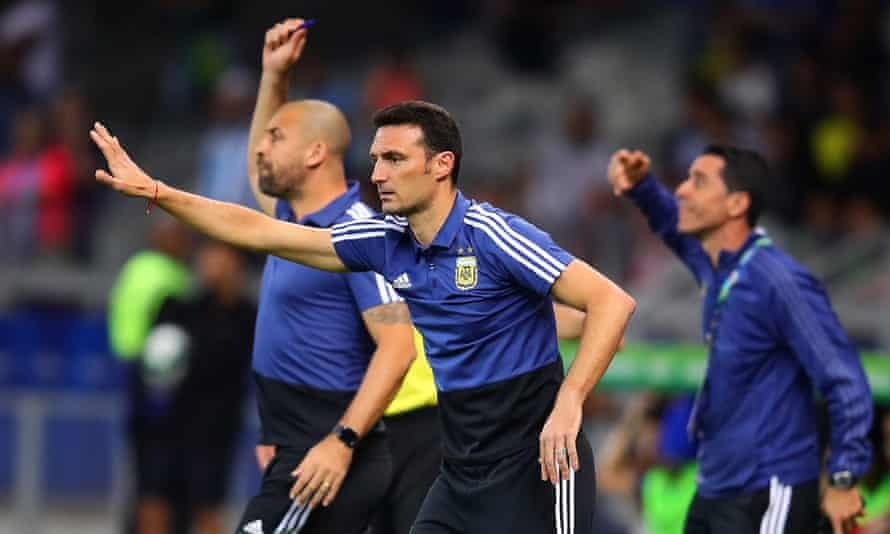 Lionel Scaloni, Argentina's caretaker coach.