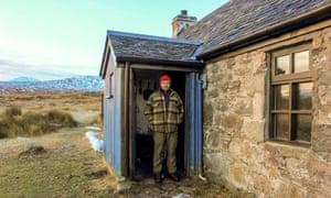 Geoff Allan at Ben Alder Cottage.