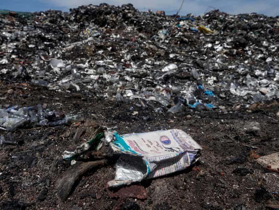 An open-air dump site in La Gi province