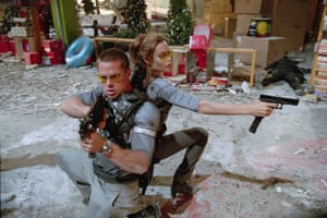 Silly, sexy comedy … Angelina Jolie and Brad Pitt in Mr and Mrs Smith.