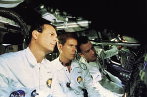 With Kevin Bacon and Tom Hanks in Apollo 13 - 1995