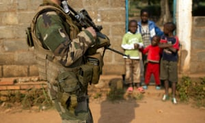 A French peacekeeping soldier in Bangui