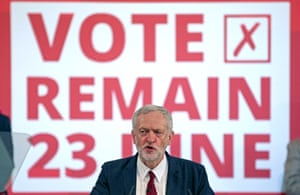 Jeremy Corbyn's campaign for Britain to remain in the EU has been criticized as lackluster at best.