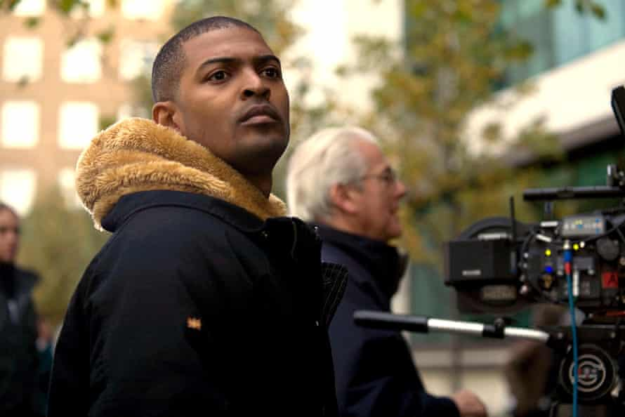 Noel Clarke on the set of Adulthood