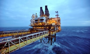 A BP oil platform in the North Sea.