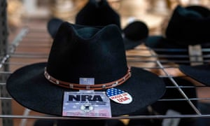 A hat with an NRA affiliation