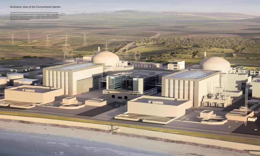Artist's impression of Hinkley Point nuclear power station