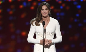 Caitlyn Jenner accepts the Arthur Ashe award for courage, July 2015.
