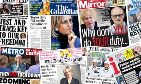 'Do YOUR duty': what the papers say about the Dominic Cummings crisis