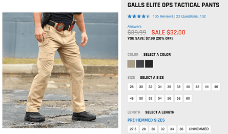 Turns out not all tactical pants cost thousands of dollars.