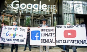 Extinction Rebellion environmental activists protest outside Google UK HQ on 16 October 2019 in London.