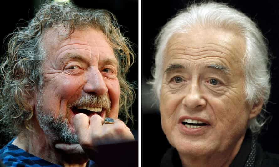 Led Zeppelin lead singer Robert Plant (left) and guitarist Jimmy Page.