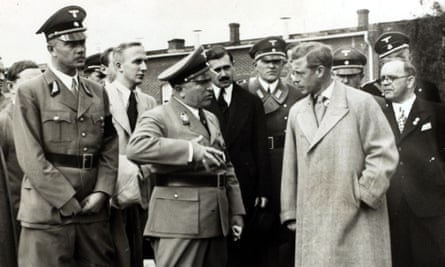King Edward (when duke) in Germany in 1937