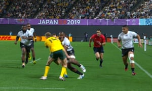 Reece Hodge's high tackle on Peceli Yato that led to Fiji's star flanker being forced off during the first half of the game against Australia.