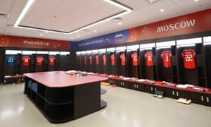 The Russia dressing room