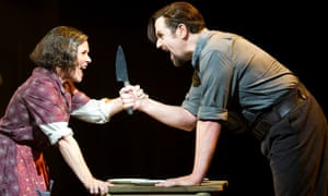 Imelda Staunton and Michael Ball lay the table in Sweeney Todd at Chichester Festival theatre in 2011.