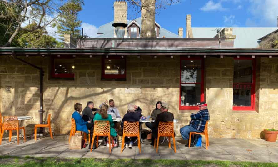 A socially-distanced post-Covid Shea family gathering