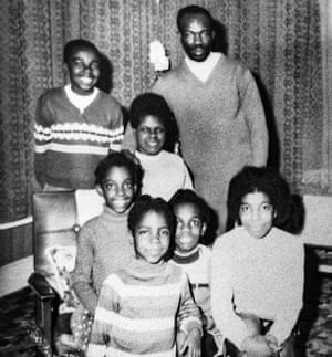 Ivan Anglin with his wife and children in the 1970s.