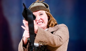 Theatrical exuberance … Emily Winter in The Cheviot, the Stag and the Black, Black Oil