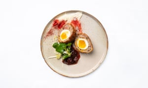 'The yolk is at that perfect place between set and running': pheasant scotch egg.