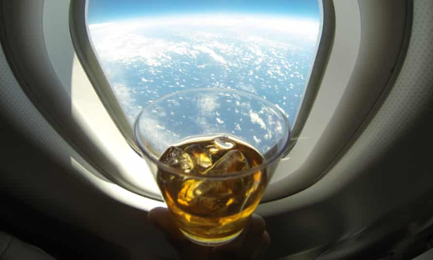 Drinking at 36,000ft.