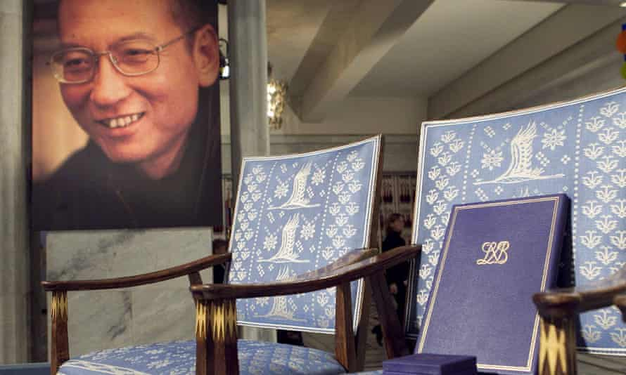 Lu Xiaobo was awarded the Nobel peace prize in 2010, but remains in prison in China.