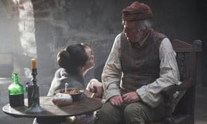 Sickening reality of debt … Claire Foy as Amy Dorrit and Tom Courtenay as William in the BBC's Little Dorrit (2008).